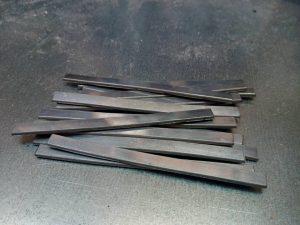 Metall in Form von flach gewalztem Aluminiumdraht